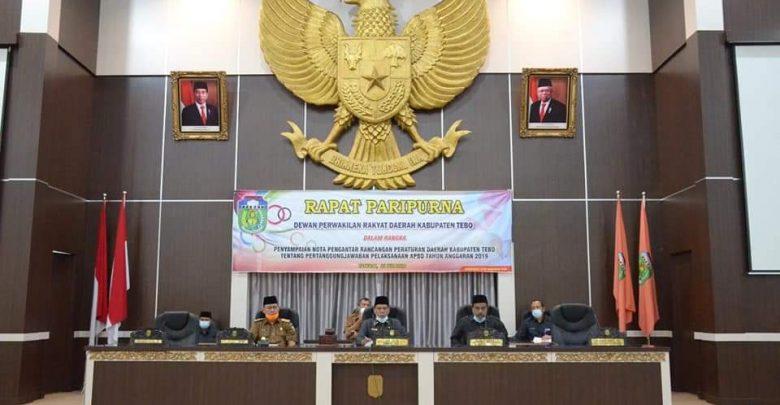 Bupati Sukandar Sampaikan Ranperda Pertanggungjawaban Pelaksanaan Apbd Delik Jambi
